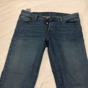 Levi's 501 high waisted denim jeans